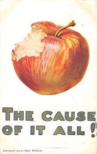 Ansichtkaart Engeland 1910 The cause of it All! Humor Cartoon England Europe HC25716
