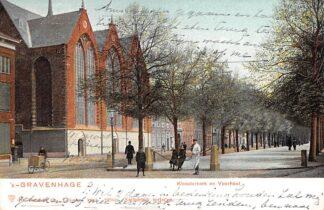 Ansichtkaart 's-Gravenhage Kloosterkerk en Voorhout 1904 HC25758