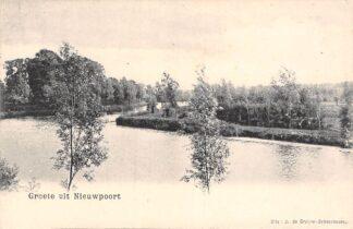 Ansichtkaart Nieuwpoort Groete uit 1900 HC25761