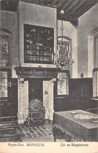 Ansichtkaart Marssum Popta-Slot Kasteel 1912 Waadhoeke Friesland HC25782