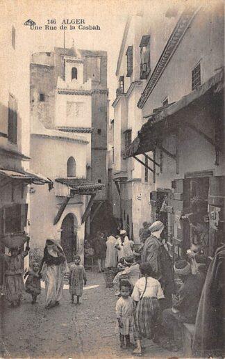 Ansichtkaart Algerije Alger Une Rue de la Casbah 1928 Afrika HC25785