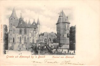 Ansichtkaart Heeswijk Kasteel van Heeswijk Groete uit Heeswijk bij 's Bosch 1900 's-Hertogenbosch HC25796