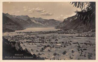 Ansichtkaart Zwitserland Wilderswil Blick auf Brienzersee und Rothornkette 1929 Schweiz Suisse Switzerland Europa HC25798