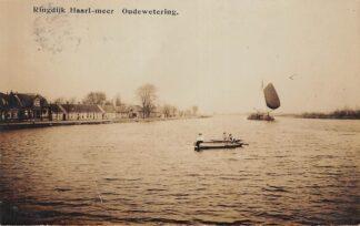 Ansichtkaart Oude Wetering Ringdijk Haarlemmermeer Fotokaart Kaag Binnenvaart schepen HC25807