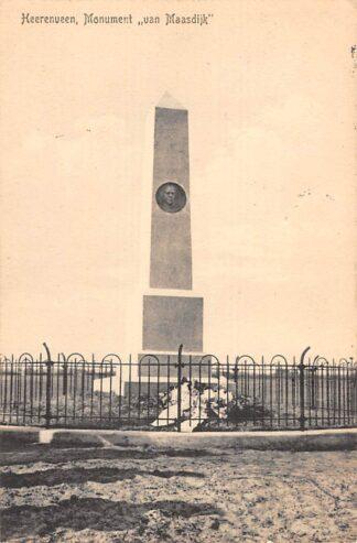 Ansichtkaart Heerenveen Monument van Maasdijk 1912 HC25815