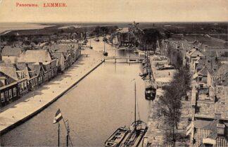 Ansichtkaart Lemmer Panorama Haven Molen Binnenvaart schepen 1911HC25822