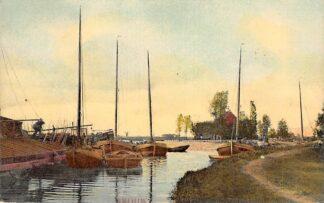 Ansichtkaart Grouw 1910 Binnenvaart schepen Scheepvaart Tulp HC25827