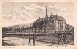 Ansichtkaart 's-Hertogenbosch Voetbrug nabij 't Klooster Mariënburg 1919 HC25866