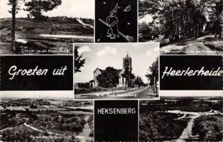 Ansichtkaart Heerlerheide Groeten uit 1968 Heksenberg Staatsmijn Emma Heide en R.K. Kerk Heksenberg HC25900