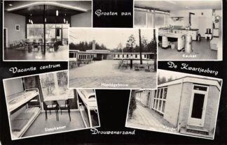 Ansichtkaart Drouwen Drouwenerzand Vacantie centrum Camping De Kwartjesberg 5-luik 1966 Borger Drenthe HC25901