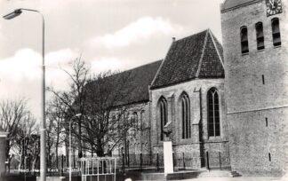 Ansichtkaart 't Zand (GR) Ned. Hervormde Kerk Bus hokje DAM Eemsmond Groningen HC25902