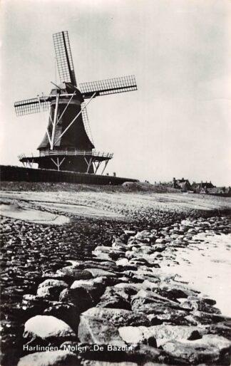 Ansichtkaart Harlingen Molen De Bazuin aan het IJsselmeer HC25923