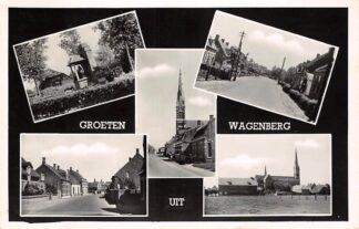 Ansichtkaart Wagenberg Groeten uit 1948 Drimmelen HC25989