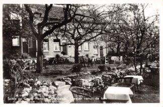 Ansichtkaart Schin op Geul Pension Geulzicht Gezien vanuit de tuin 1957 Valkenburg (LB) HC26027
