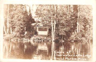 Ansichtkaart USA Grand Marais Minnesota Cabin at Claerwater Lake Lodge Fotokaart 1953 Noord-Amerika HC26076