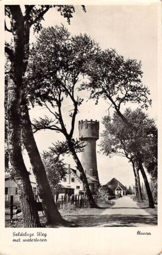 Ansichtkaart Hoorn Geldeloze Weg met watertoren Jaren 50 HC26086