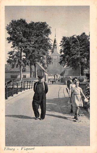 Ansichtkaart Elburg Vispoort 1950 HC26087