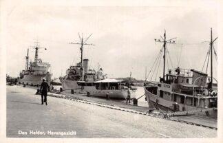 Ansichtkaart Den Helder Havengezicht Marine schepen Scheepvaart Militair 1954 HC26117