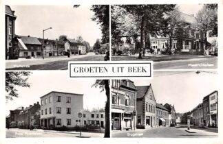 Ansichtkaart Beek (LB) Groeten uit 1961 Wolfeinde Maastrichterlaan Prins Mauritslaan Brugstraat HC26125