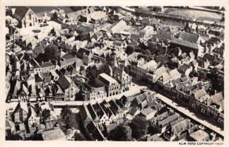 Ansichtkaart Bolsward Raadhuis met omgeving 1947 KLM Luchtfoto 14025 HC26135