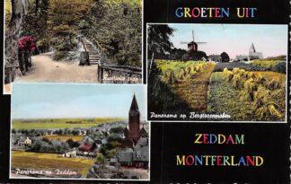 Ansichtkaart Zeddam Montferland Groeten uit Rustieke trap Panorama op Zeddam en Bergtorenmolen Molen HC26151