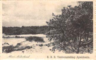 Ansichtkaart Apeldoorn B.B.B. tentoonstelling 1948 Veluwe Mooi Nederland HC26153