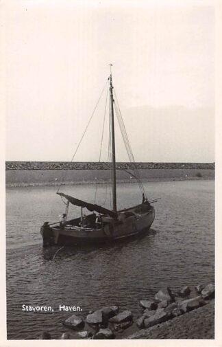 Ansichtkaart Stavoren Haven Vissers schip Scheepvaart Fotokaart HC26158