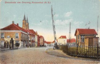Ansichtkaart Roosendaal Roozendaal (N.B.) Dwarskade met overweg Spoorwegen HC26213