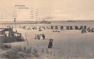 Ansichtkaart Oostvoorne Aan het strand Scheepvaart Schepen 1913 HC26281