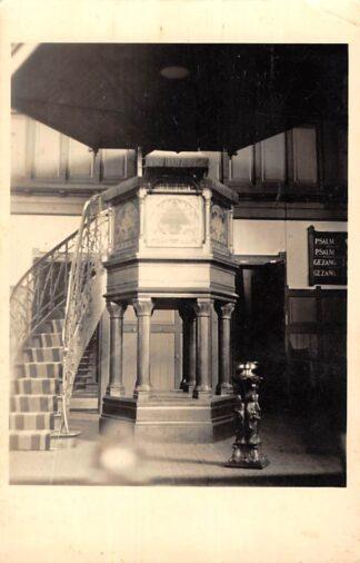 Ansichtkaart Oldehoptpade Fotokaart Interieur Kerk Preekstoel Westellingwerf Wolvega Friesland HC26298