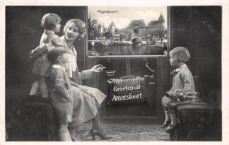 Ansichtkaart Amersfoort Groeten uit de trein Koppelpoort 1933 HC26304