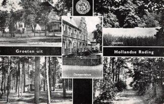 Ansichtkaart Hollandsche Rading Groeten uit 1961 Theehuis De Paddestoel Boerderij Kampeerterrein Gemeentehuis Binckhorstlaan HC26329