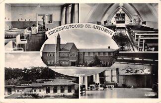 Ansichtkaart Boxtel Kinderrustoord St. Antomius Slaapzaal Kapel Sporthallen Speelzaal Voorgevel 1955 HC26330