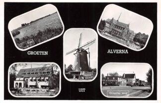 Ansichtkaart Alverna Wijchen Groeten uit 1965 Ven Molen Minderboeders Klooster Derde Orde Huis Graafse weg HC26367