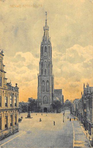 Ansichtkaart Delft  Nieuwe Kerk Markt 1911 HC26372