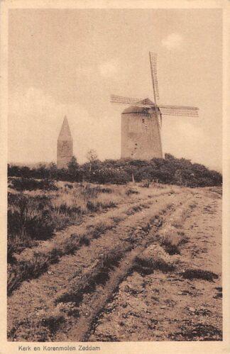 Ansichtkaart Zeddam Montferland Kerk en Korenmolen Molen HC26381