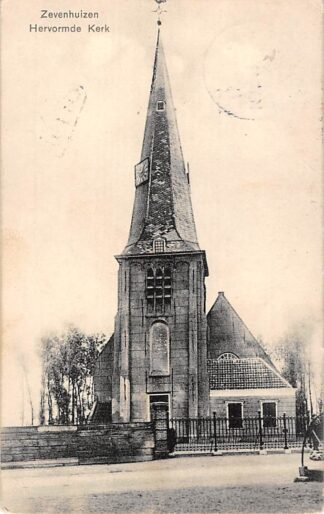 Ansichtkaart Zevenhuizen (ZH) Hervormde Kerk HC26383