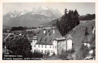 Ansichtkaart Oostenrijk Fieberbrunn Tirol Schloss Rosenegg geggen Kaisergeb. Fotokaart Osterreich Austria Europa HC26397