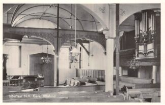Ansichtkaart Vlieland Interieur Ned. hervormde Kerk met orgel 1955 HC26404