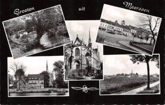 Ansichtkaart Meerssen Groeten uit 1967 Geulgezicht Basiliek Proosdij Herkenberg en Marktplein 1967 HC26423