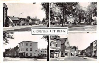 Ansichtkaart Groeten uit Beek (LB) Wolfeinde Maastrichterlaan Prins Mauritslaan Brugstraat 1961 HC26435