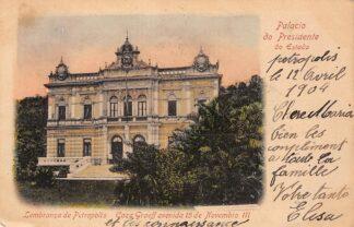 Ansichtkaart Brazilië Lembranca de Petropolis Caza Graeff avenida 15 de Novembro 111 Brasil 1904 Zuid-Amerika Palacio do Presidente do Estado HC26471