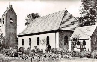 Ansichtkaart Ameland Ballum Ned. Hervormde Kerk met toren 1964 HC26570