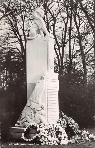 Ansichtkaart Bilthoven Verzets monument WO2 1959 HC26592