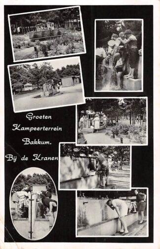 Ansichtkaart Bakkum Kampeerterrein Bij de Kranen 1959 Camping HC26593