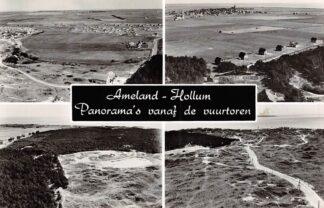 Ansichtkaart Ameland Hollum Panorama's vanaf de vuurtoren 1963 HC26600