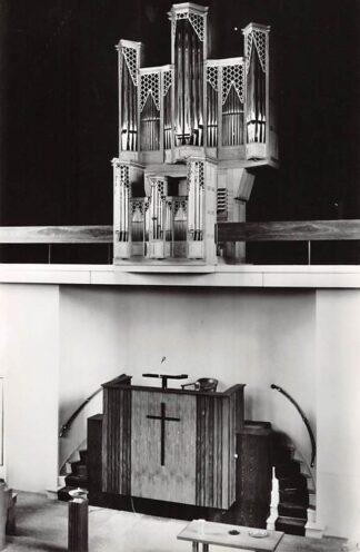 Ansichtkaart Joure Gereformeerde Kerk Orgel en Preekstoel 1969 HC26627