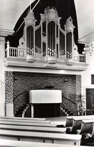 Ansichtkaart Ulrum Groningen Orgel en preekstoel Gereformeerde Kerk 1968 HC26635