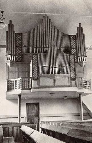Ansichtkaart Almkerk Gereformeerde Kerk Orgel Dispositie 1956 HC26664