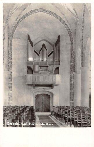 Ansichtkaart Groenlo Ned. Hervormde Kerk Orgel Dispositie HC26682